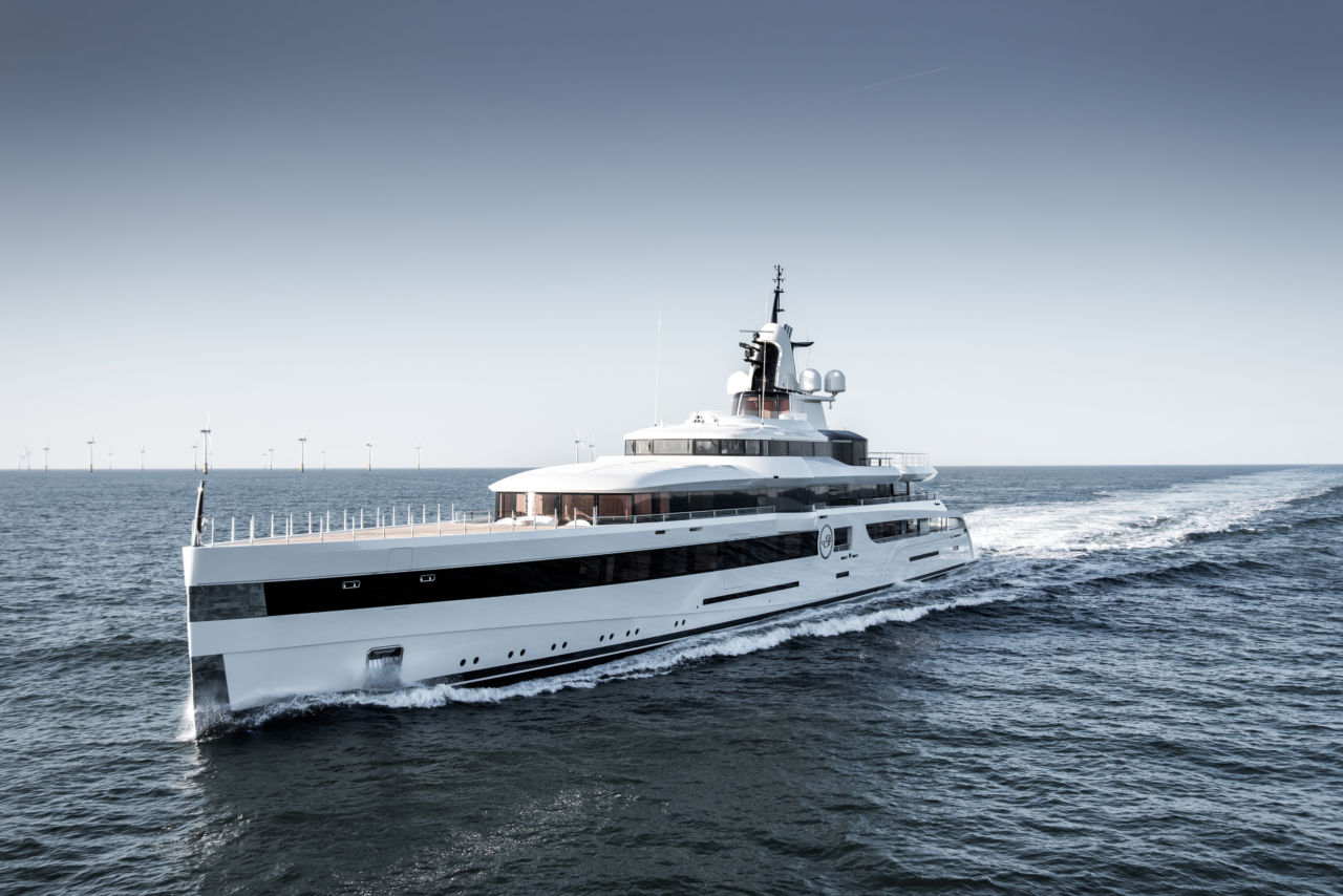 Lady S yacht set out for sea trials
