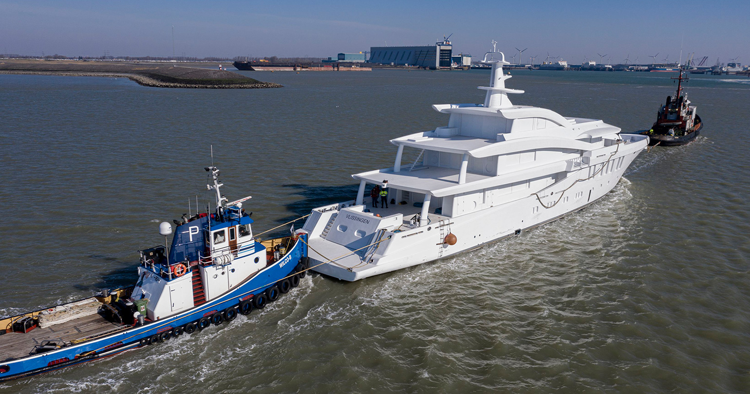 Amels 200 third hull: work is in full swing despite quarantine